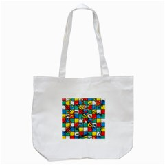 Snakes And Ladders Tote Bag (White)