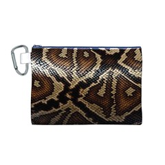 Snake Skin Olay Canvas Cosmetic Bag (M)