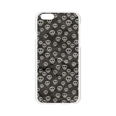 Skull Halloween Background Texture Apple Seamless iPhone 6/6S Case (Transparent)