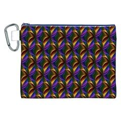 Seamless Prismatic Line Art Pattern Canvas Cosmetic Bag (XXL)