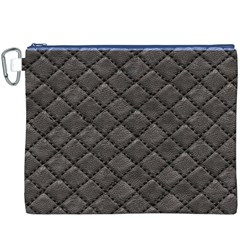 Seamless Leather Texture Pattern Canvas Cosmetic Bag (XXXL)