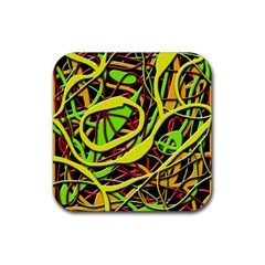 Snake bush Rubber Square Coaster (4 pack)