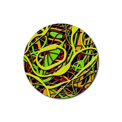 Snake bush Rubber Coaster (Round)