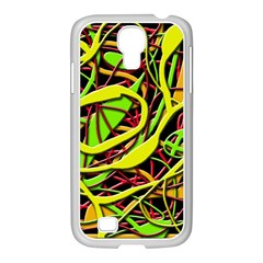 Snake bush Samsung GALAXY S4 I9500/ I9505 Case (White)