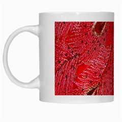 Red Peacock Floral Embroidered Long Qipao Traditional Chinese Cheongsam Mandarin White Mugs