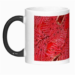 Red Peacock Floral Embroidered Long Qipao Traditional Chinese Cheongsam Mandarin Morph Mugs