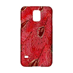 Red Peacock Floral Embroidered Long Qipao Traditional Chinese Cheongsam Mandarin Samsung Galaxy S5 Hardshell Case