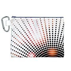 Radial Dotted Lights Canvas Cosmetic Bag (XL)