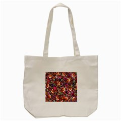 Psychedelic Flower Tote Bag (Cream)