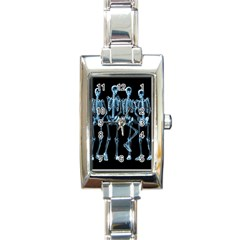 Adventure Time Cover Rectangle Italian Charm Watch