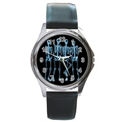 Adventure Time Cover Round Metal Watch