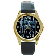 Adventure Time Cover Round Gold Metal Watch