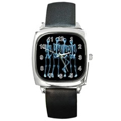Adventure Time Cover Square Metal Watch