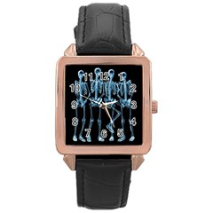 Adventure Time Cover Rose Gold Leather Watch