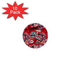 Agghh Pattern 1  Mini Buttons (10 pack)