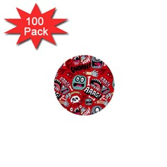 Agghh Pattern 1  Mini Buttons (100 pack)