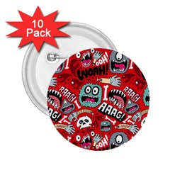 Agghh Pattern 2.25  Buttons (10 pack)