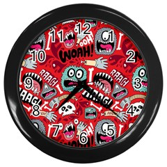 Agghh Pattern Wall Clocks (Black)