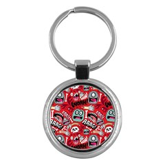 Agghh Pattern Key Chains (Round)