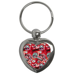 Agghh Pattern Key Chains (heart)