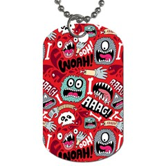 Agghh Pattern Dog Tag (One Side)