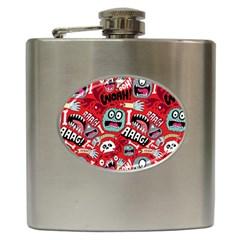 Agghh Pattern Hip Flask (6 oz)