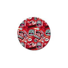 Agghh Pattern Golf Ball Marker (4 pack)