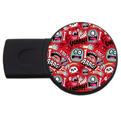Agghh Pattern USB Flash Drive Round (1 GB)