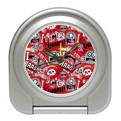 Agghh Pattern Travel Alarm Clocks