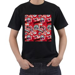Agghh Pattern Men s T Shirt (black) (two Sided)