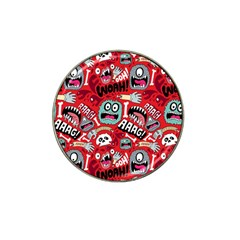 Agghh Pattern Hat Clip Ball Marker (4 pack)