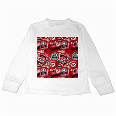 Agghh Pattern Kids Long Sleeve T Shirts