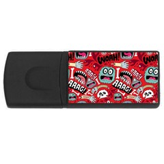 Agghh Pattern Usb Flash Drive Rectangular (4 Gb)