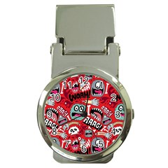 Agghh Pattern Money Clip Watches