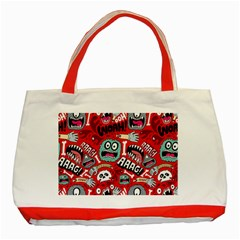 Agghh Pattern Classic Tote Bag (Red)