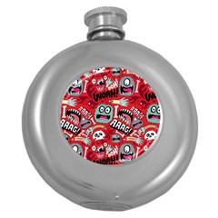 Agghh Pattern Round Hip Flask (5 Oz)