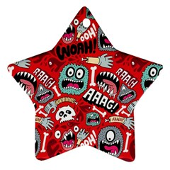 Agghh Pattern Star Ornament (Two Sides)