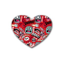 Agghh Pattern Heart Coaster (4 pack)