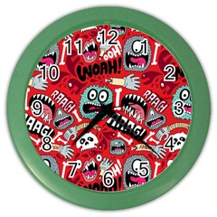 Agghh Pattern Color Wall Clocks