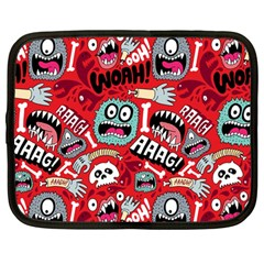 Agghh Pattern Netbook Case (Large)