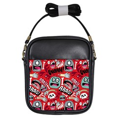 Agghh Pattern Girls Sling Bags