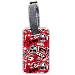 Agghh Pattern Luggage Tags (One Side)