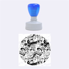 Agghh Pattern Rubber Round Stamps (Medium)