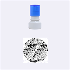 Agghh Pattern Rubber Round Stamps (Small)