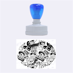 Agghh Pattern Rubber Oval Stamps