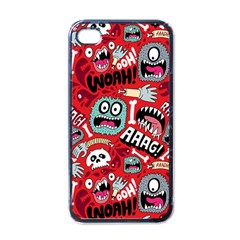 Agghh Pattern Apple iPhone 4 Case (Black)