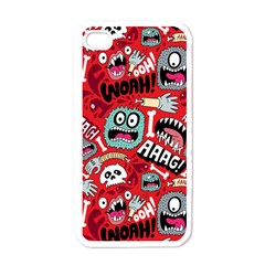 Agghh Pattern Apple iPhone 4 Case (White)