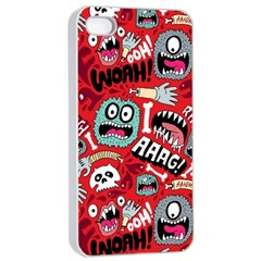 Agghh Pattern Apple iPhone 4/4s Seamless Case (White)