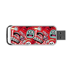 Agghh Pattern Portable USB Flash (One Side)