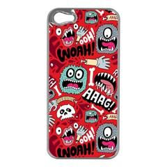 Agghh Pattern Apple iPhone 5 Case (Silver)